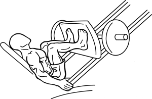Leg press oefening